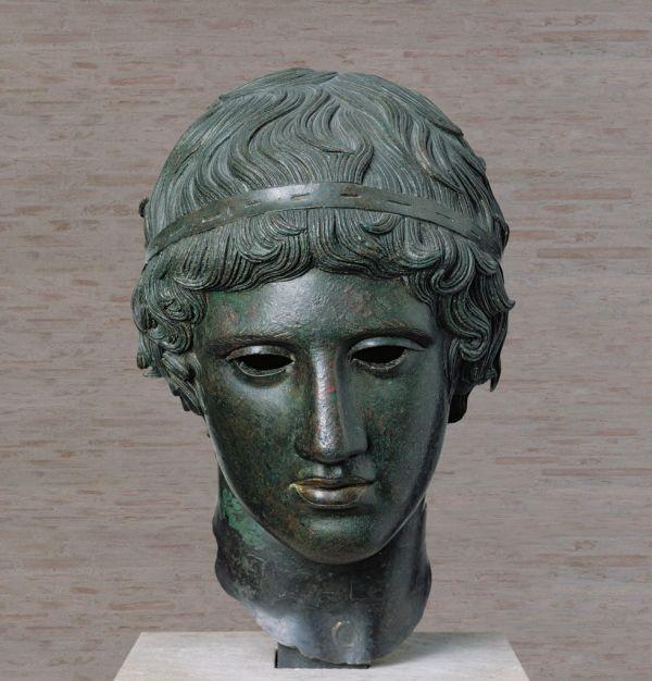 Bild Knabe mit der Siegerbinde, römische Bronze nach einem klassischen griechischen Vorbild um 450 v. Chr.