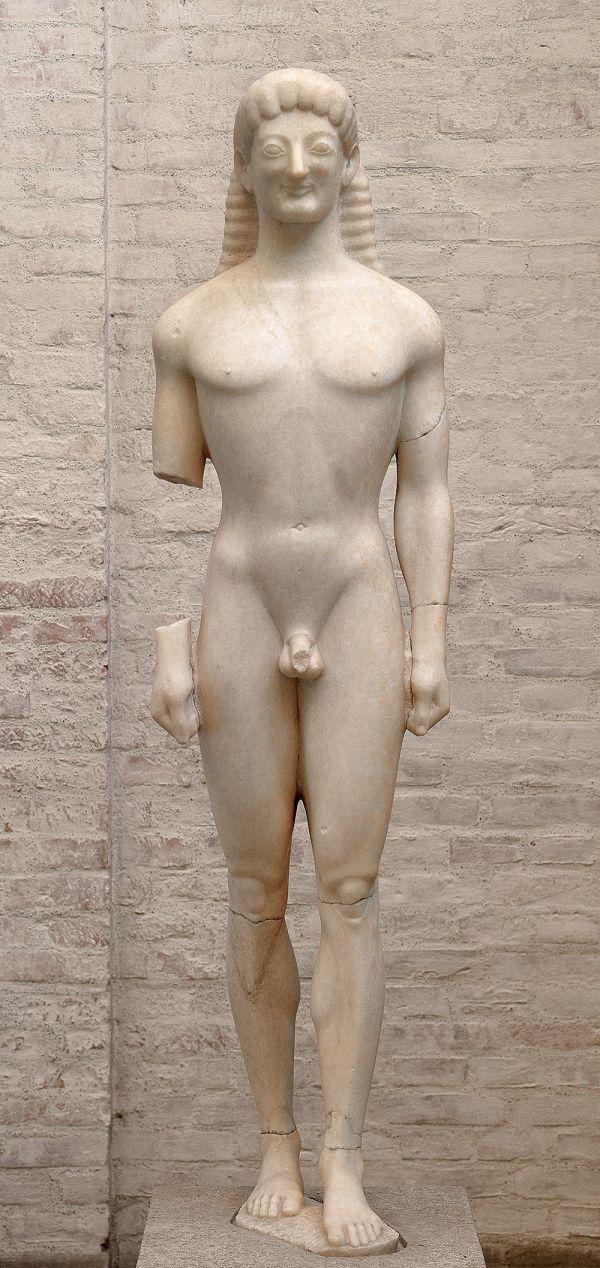 Bild Grabstatue eines Jünglings aus der Nähe von Korinth, 570/60 v. Chr.