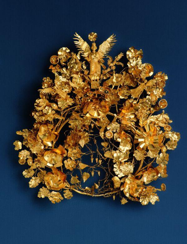Bild Den Goldkranz von Armento erhielt der Wohltäter einer Stadt in Süditalien für seine Verdienste, 325–300 v. Chr.