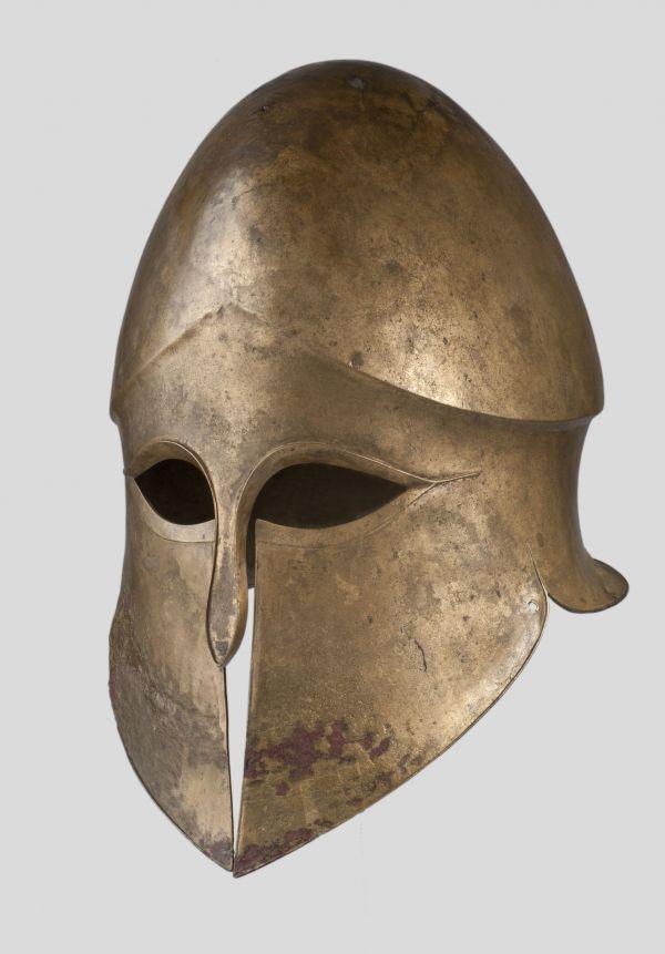 Bild Korinthischer Helm, der laut einer Inschrift einst dem Denda gehörte, um 490 v. Chr.