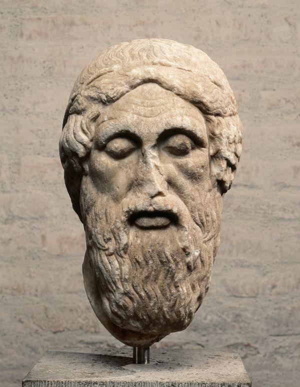 Bild Marmorbildnis Homers, des Dichters der Ilias und der Odyssee, Original um 460 v. Chr.