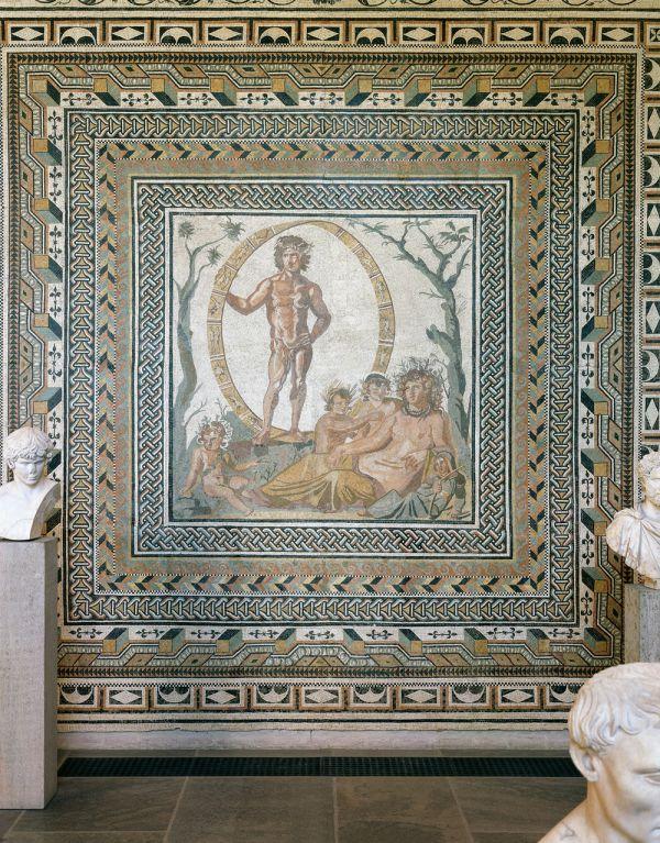 Bild Jahreszeitenmosaik aus einer Villa in Sentinum, dem heutigen Sassoferrato, um 200 n. Chr.