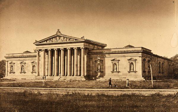 Bild Ansicht der Glyptothek vom Königsplatz aus, 1855