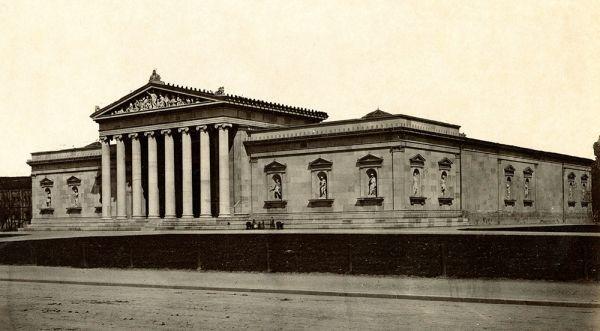 Bild Ansicht der Glyptothek von Südosten aus, um 1890