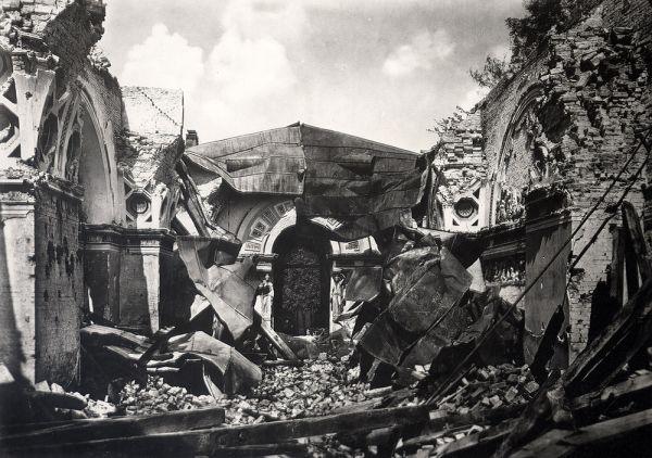 Bild Kriegszerstörung im Römersaal der Glyptothek, 1945