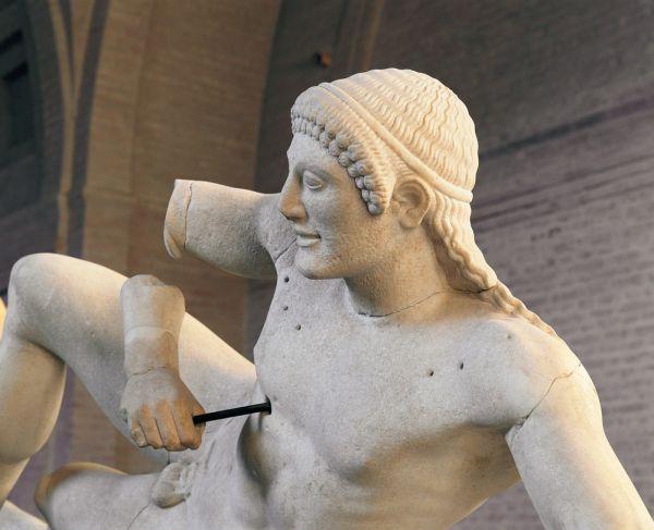 Bild Sterbender Trojaner vom Westgiebel des Aphaiatempels von Aigina