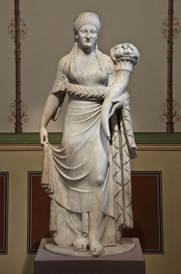 Bild Römische Statue der Glücksgöttin Fortuna, 1. Jahrhundert n. Chr.