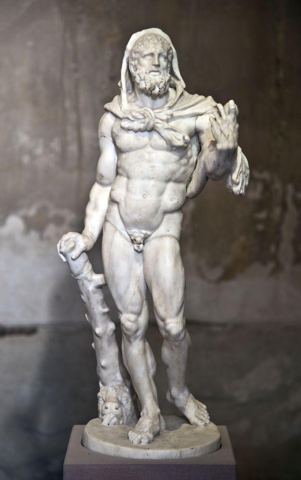 Bild Marmorstatuette des Hercules mit den Äpfeln der Hesperiden, 2. Jahrhundert n. Chr.