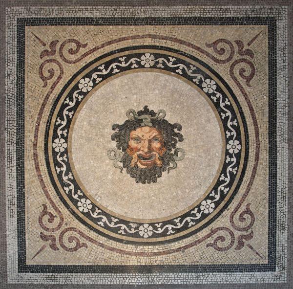 Bild Neuzeitliches Fußbodenmosaik aus dem Pompejanum
