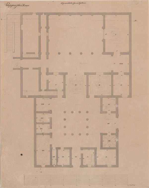 Bild Grundriss des Pompejanums