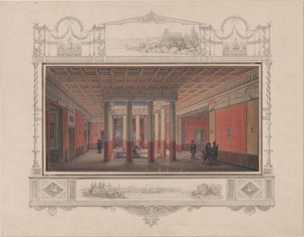 Bild Planungsentwurf von Friedrich von Gärtner, um 1840