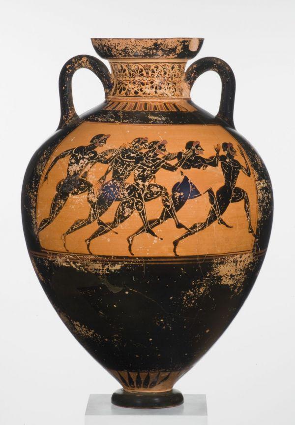 Bild Mit 40 Litern Olivenöl gefüllt diente diese Panathenäische Preisamphore als Siegespreis bei den Spielen in Athen, um 520 v. Chr.