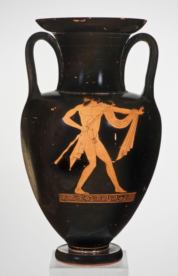 Bild Halsamphore mit einem Hauptbild aus klassischer Zeit. Athen, 450–440 v. Chr.