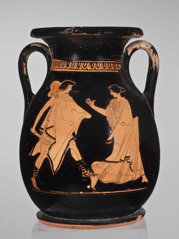 Bild Die Pelike ist eine bauchige Sonderform der Amphore. Aus Athen, um 450 v. Chr.