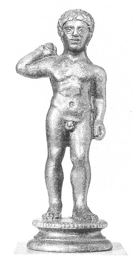 Athlet mit Strigilis